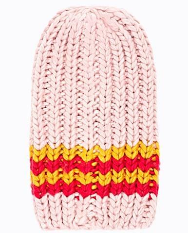 Rebrovaná čiapka s prúžkami