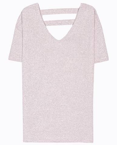 Melírované tričko s véčkovým výstrihom