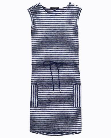 Prúžkované šaty bez rukávov
