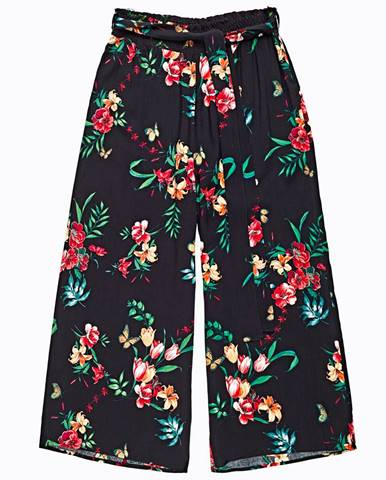 Široké nohavice s kvetinovou potlačou