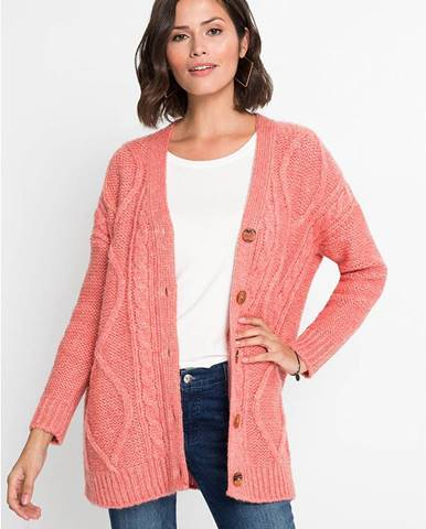 Oversize-pletený sveter s osmičkovým vzorom