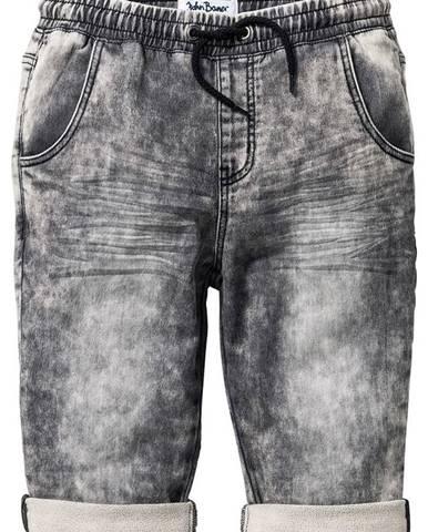 Jemné džínsové bermudy