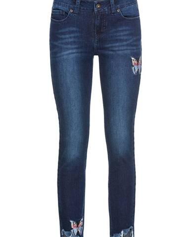 Skinny džínsy s výšivkou