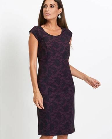 Premium púzdrové šaty s čipkovanou potlačou