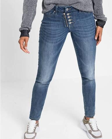 Skinny džínsy so zipsmi