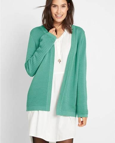Vrúbkovaný pletený sveter