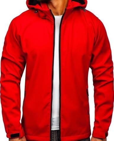 Červená pánska softshellová prechodná bunda