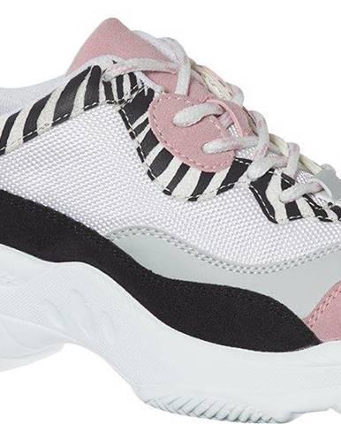 Graceland - Bielo-čierne chunky tenisky Graceland so zvieracím vzorom
