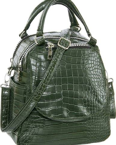 Graceland - Zelená kabelka so zvieracím vzorom Graceland