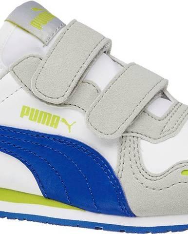 Puma - Biele tenisky na suchý zips Puma Cabana Racer SL