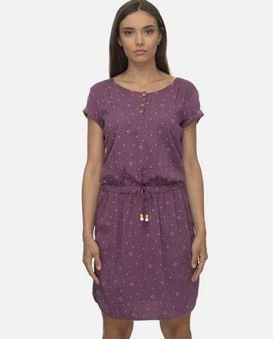 Fialové vzorované šaty Ragwear Danila