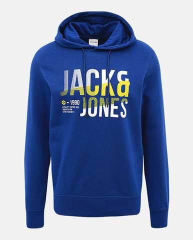Modrá mikina s potlačou Jack & Jones Foke