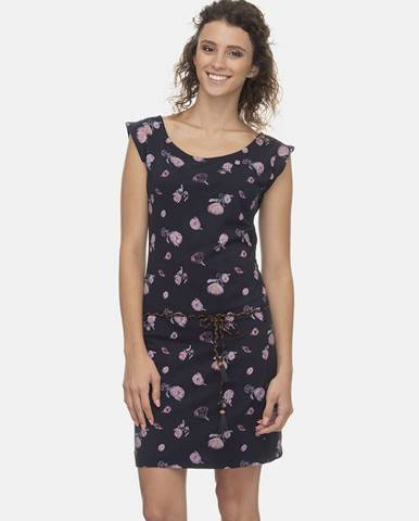 Tmavomodré kvetované šaty Ragwear Tamy Flowers