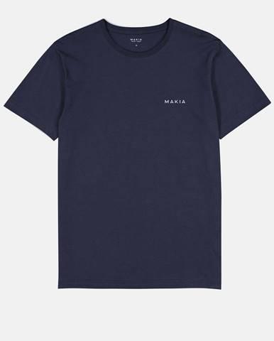 Tmavomodré pánske tričko s potlačou Makia