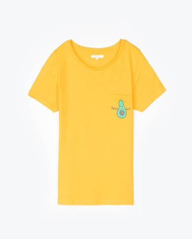 Tričko s potlačou na vrecku