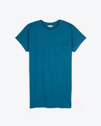 Dlhé základné tričko s náprsným vreckom