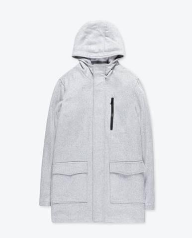 Kabát so zapínaním na zips s kapucňou