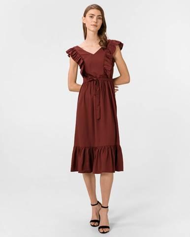 Vero Moda Odette Šaty Červená Hnedá