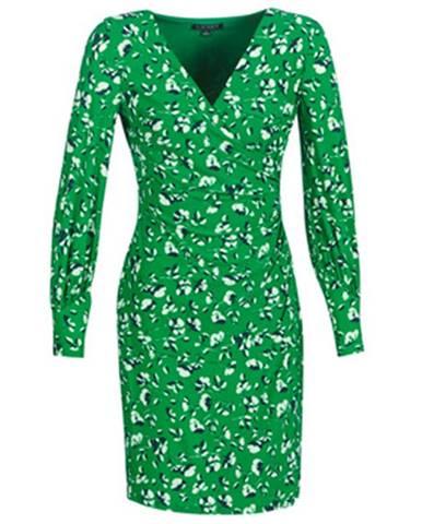 Krátke šaty Lauren Ralph Lauren  FLORAL PRINT-LONG SLEEVE-JERSEY DAY DRESS