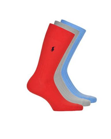 Ponožky Polo Ralph Lauren  3P SOLID RIB-CREW-3 PACK
