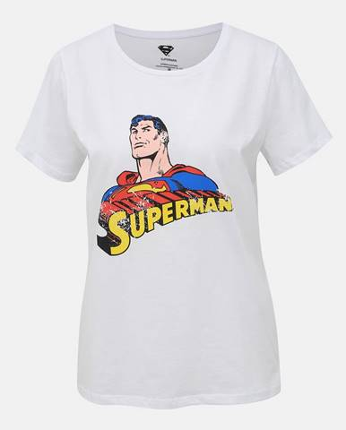 Biele tričko Noisy May Superman