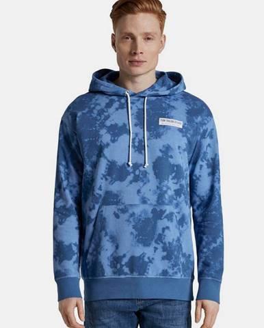 Modrá pánska vzorovaná mikina Tom Tailor Denim