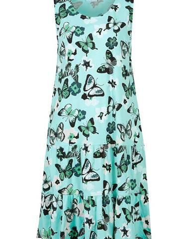 Džersejové šaty s volánom, kvetované