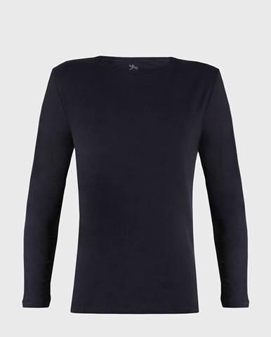 Modré tričko s dlhými rukávmi Cotton Nature