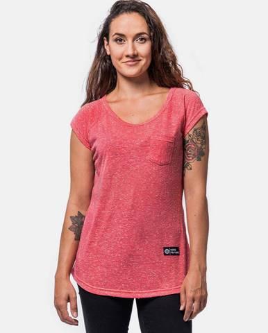 Ružové dámske tričko Horsefeathers