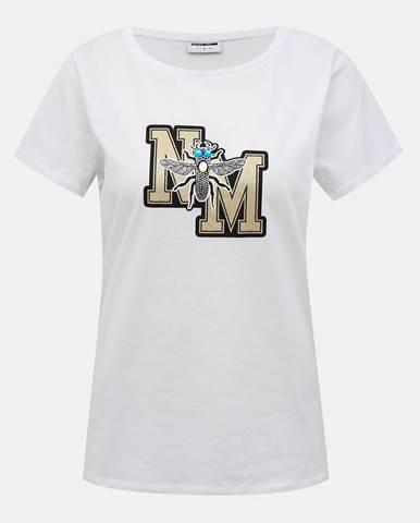 Biele tričko Noisy May Macie