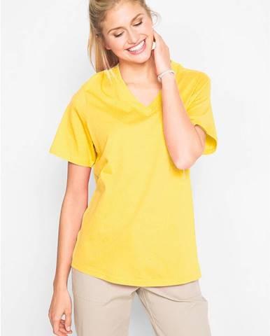 Dlhé tričko, V-výstrih (5 ks), krátky rukáv
