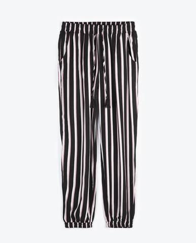 Pruhované nohavice hárem