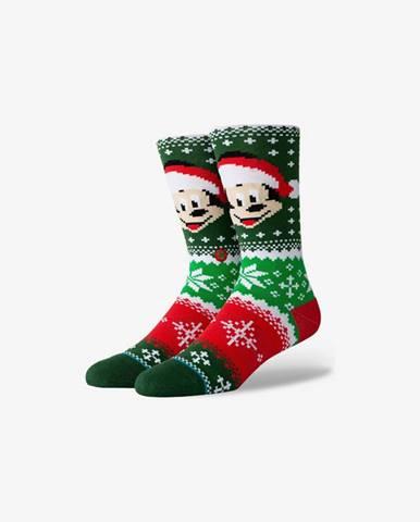 Stance Mickey Claus Ponožky Zelená Červená
