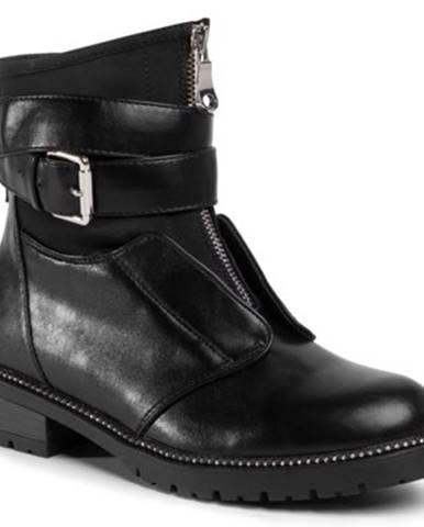 Členkové topánky DeeZee WS5169-01 Materiał tekstylny,koža ekologická