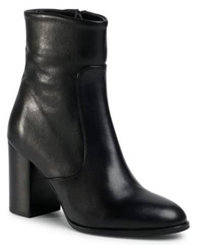 Členkové topánky Gino Rossi 18401 koža(useň) lícová