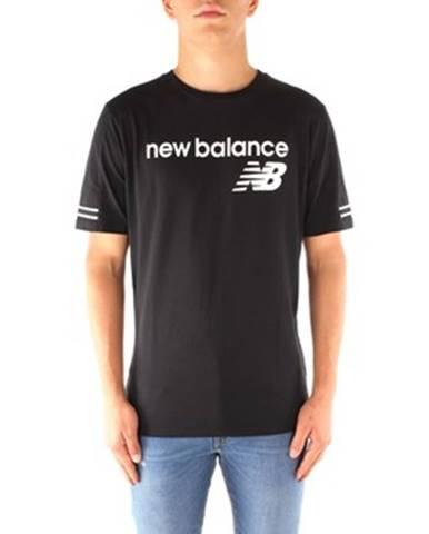 Tričká s krátkym rukávom New Balance  MT91531BK