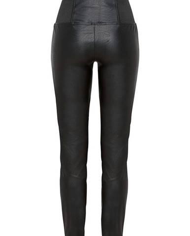 Koženkové nohavice, vysoký pás