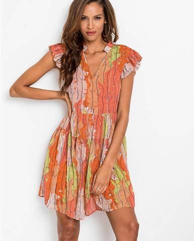 Midi šaty so vzorom