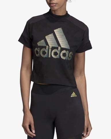 Tričko adidas Performance W Id Glam Tee Čierna