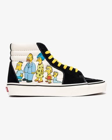 The Simpsons Sk8-Hi Tenisky Vans Čierna