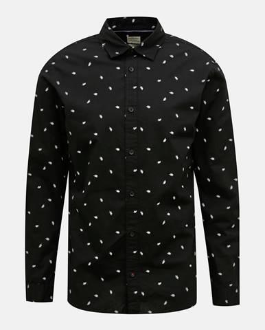 Čierna vzorovaná košeľa Jack & Jones Madison