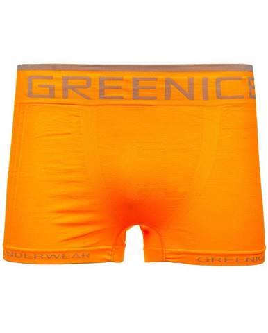 Oranžové pánske boxerky