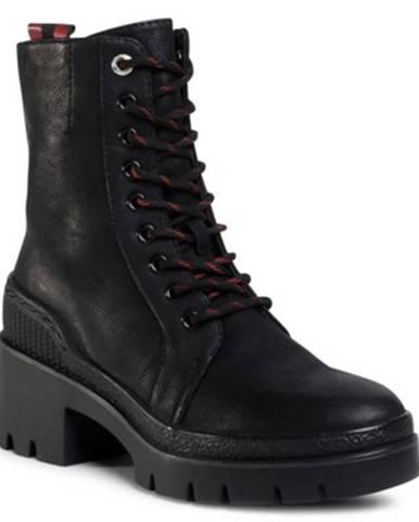 Šnurovacia obuv  WS5205-01 koža ekologická